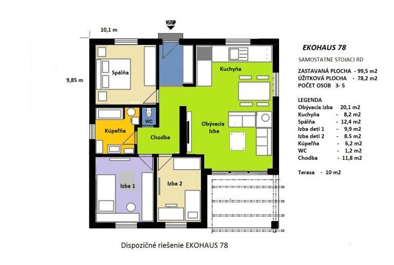 Nízkoenergetický dom EKOHAUS 78