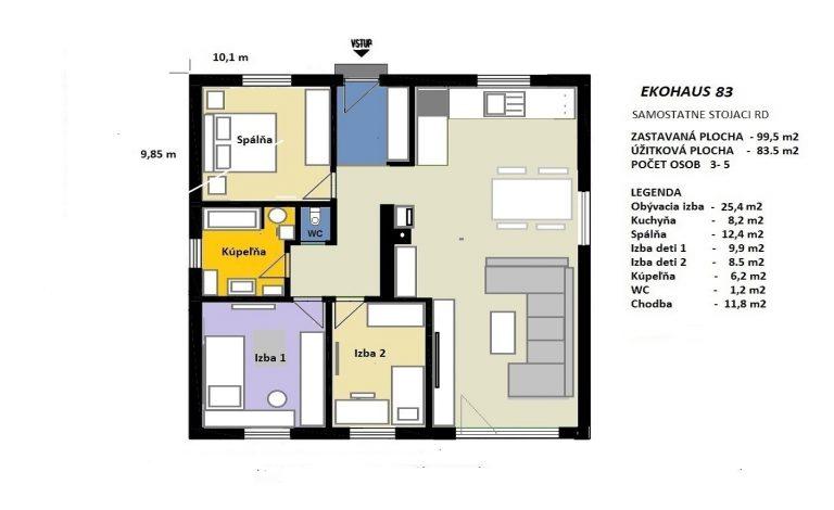 Nízkoenergetický dom EKOHAUS 83