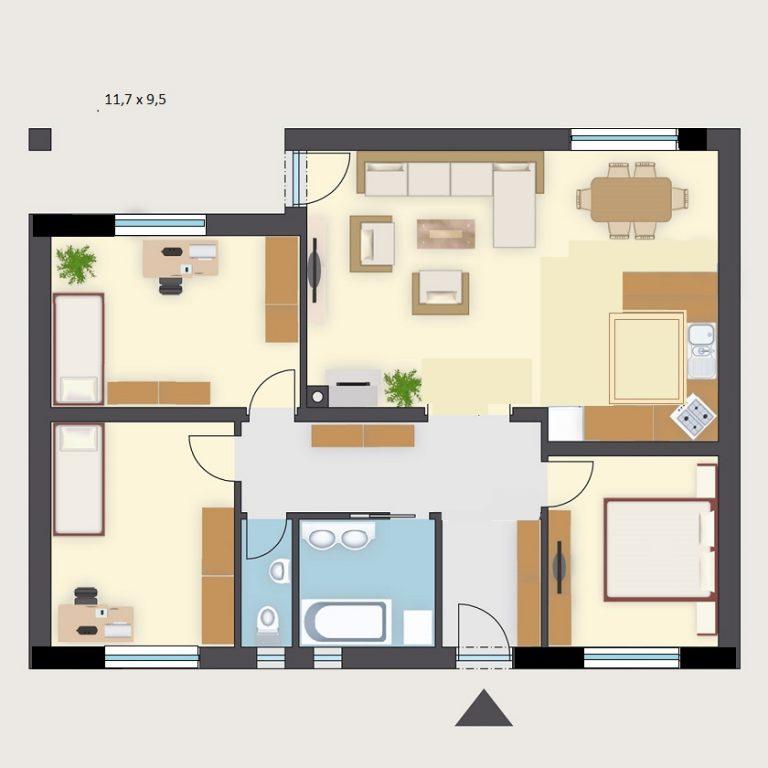 Nízkoenergetický dom EKOHAUS 88